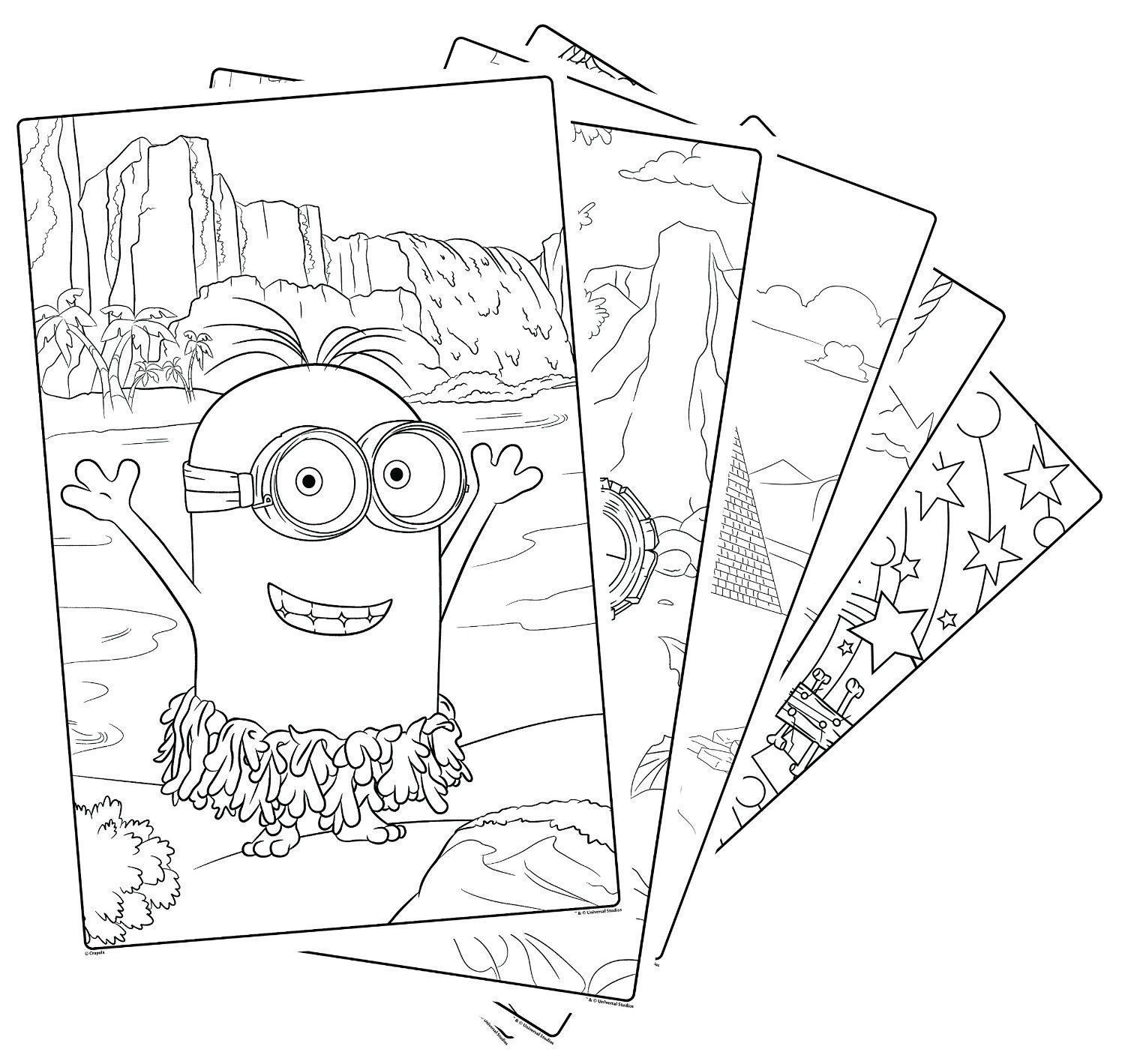 me minions crayola 18 giant colouring pages